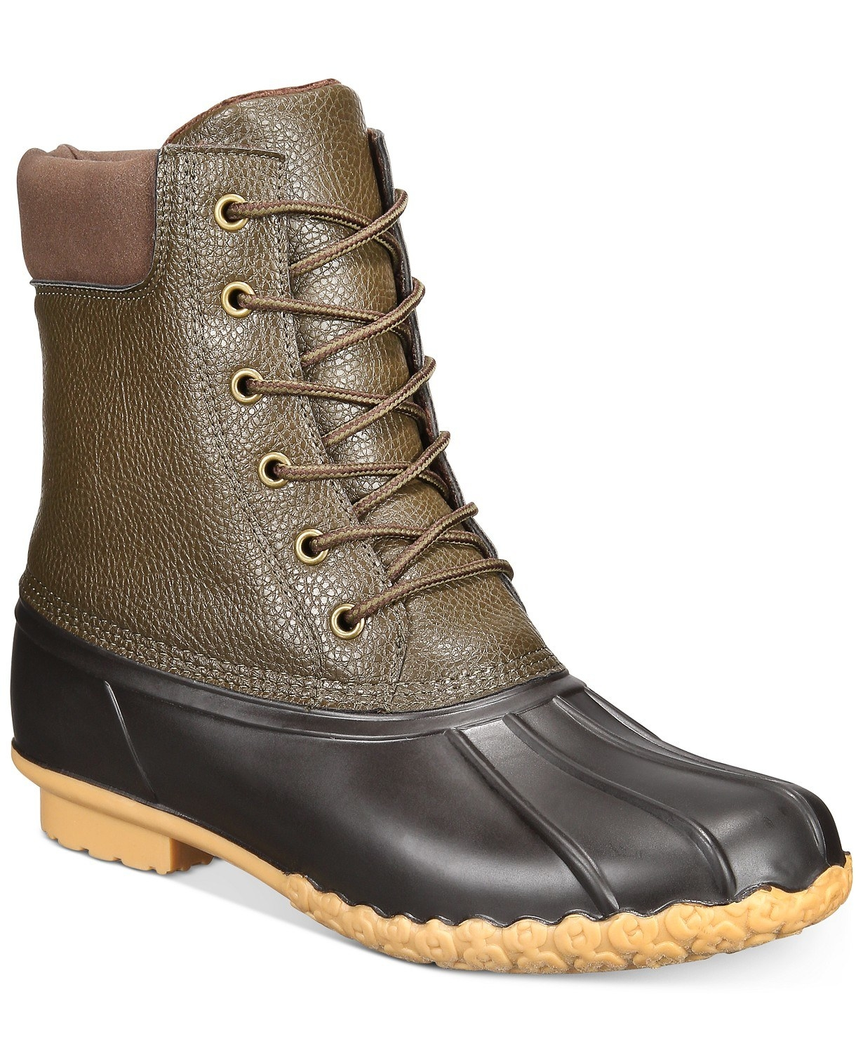 adam duck boots by weatherproof vintage in olive