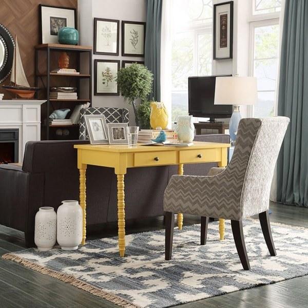 The mustard yellow desk