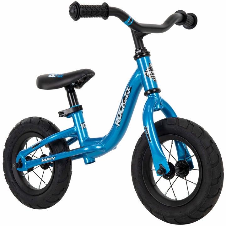 a kid's huffy bike in blue