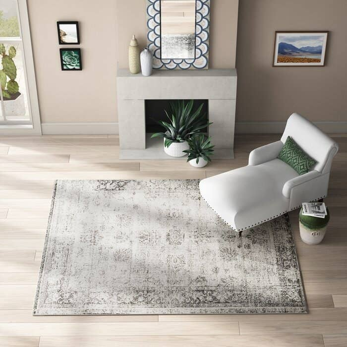 the burnout effect gray rug