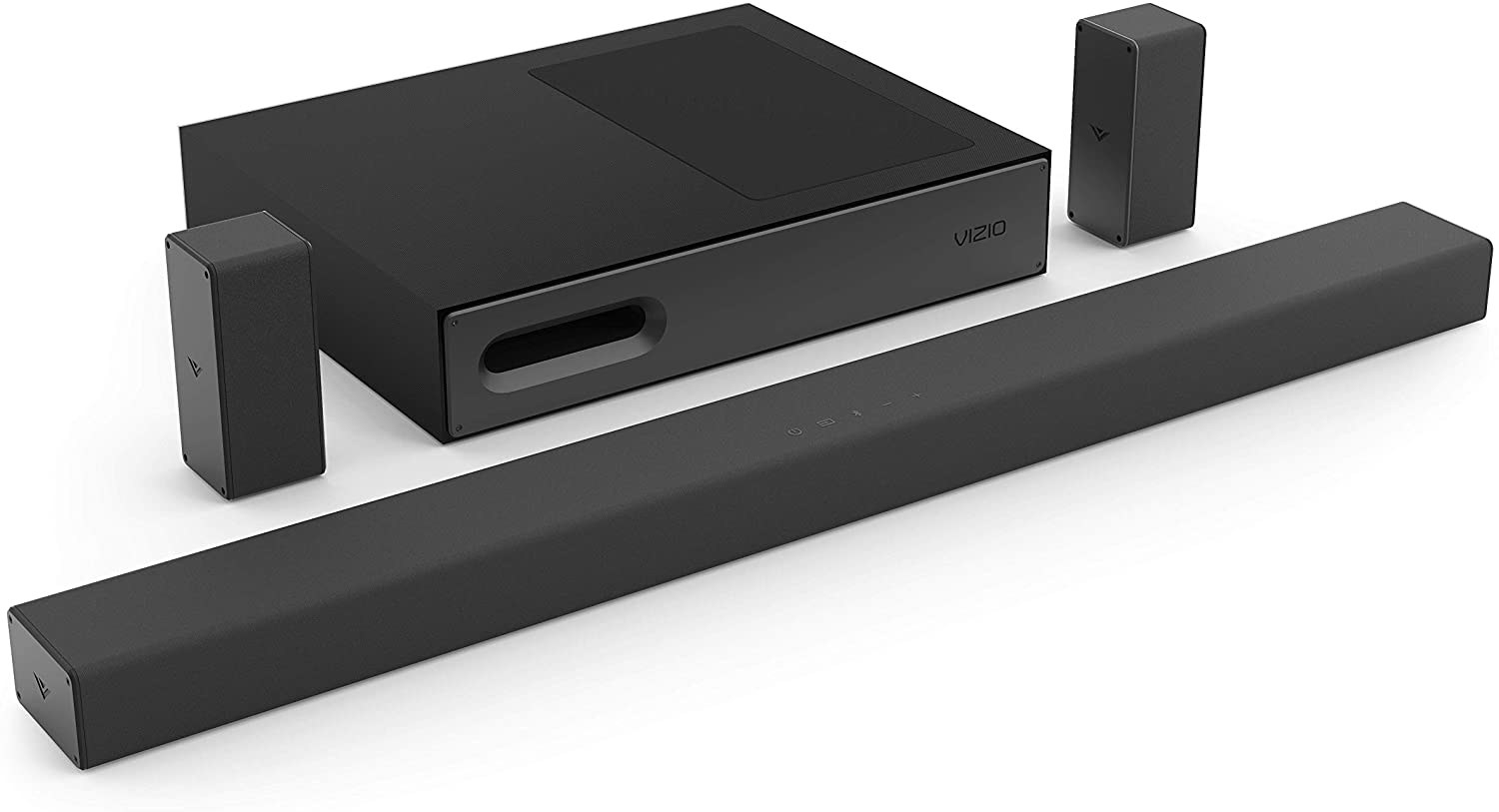 the sound bar and subwoofer