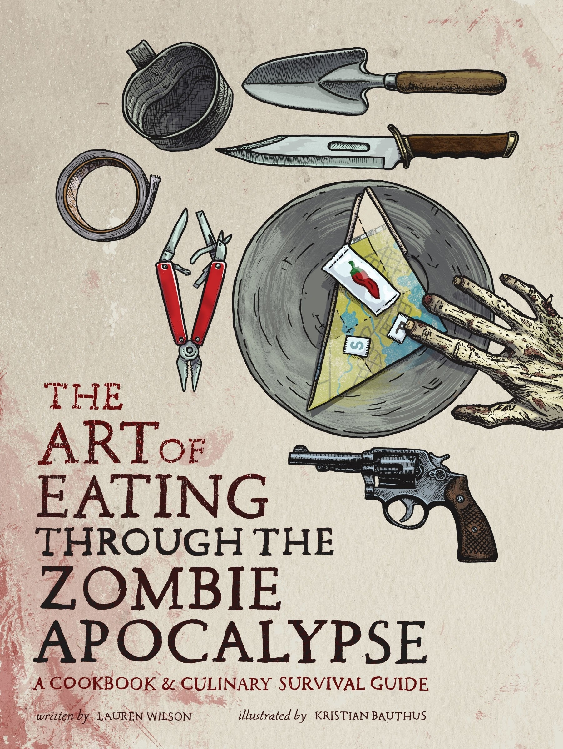 "the cover of ""Eating through the zombie apocalypse"""