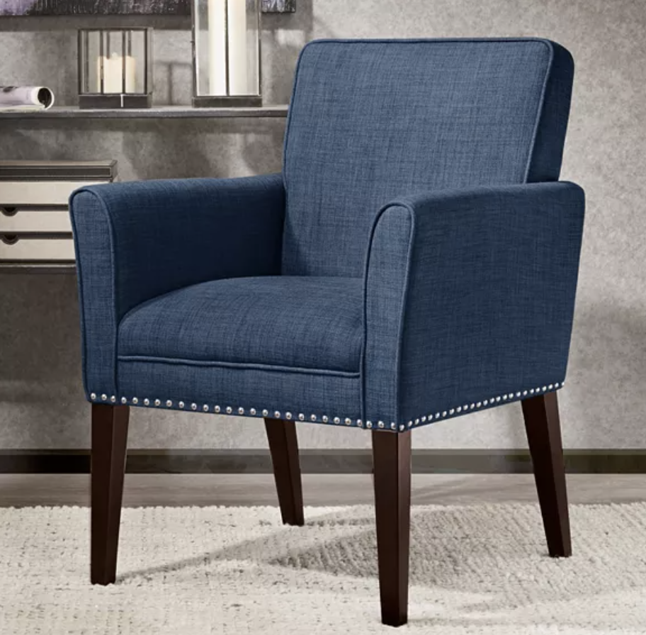 Madison Park Tyler accent chair in solid navy