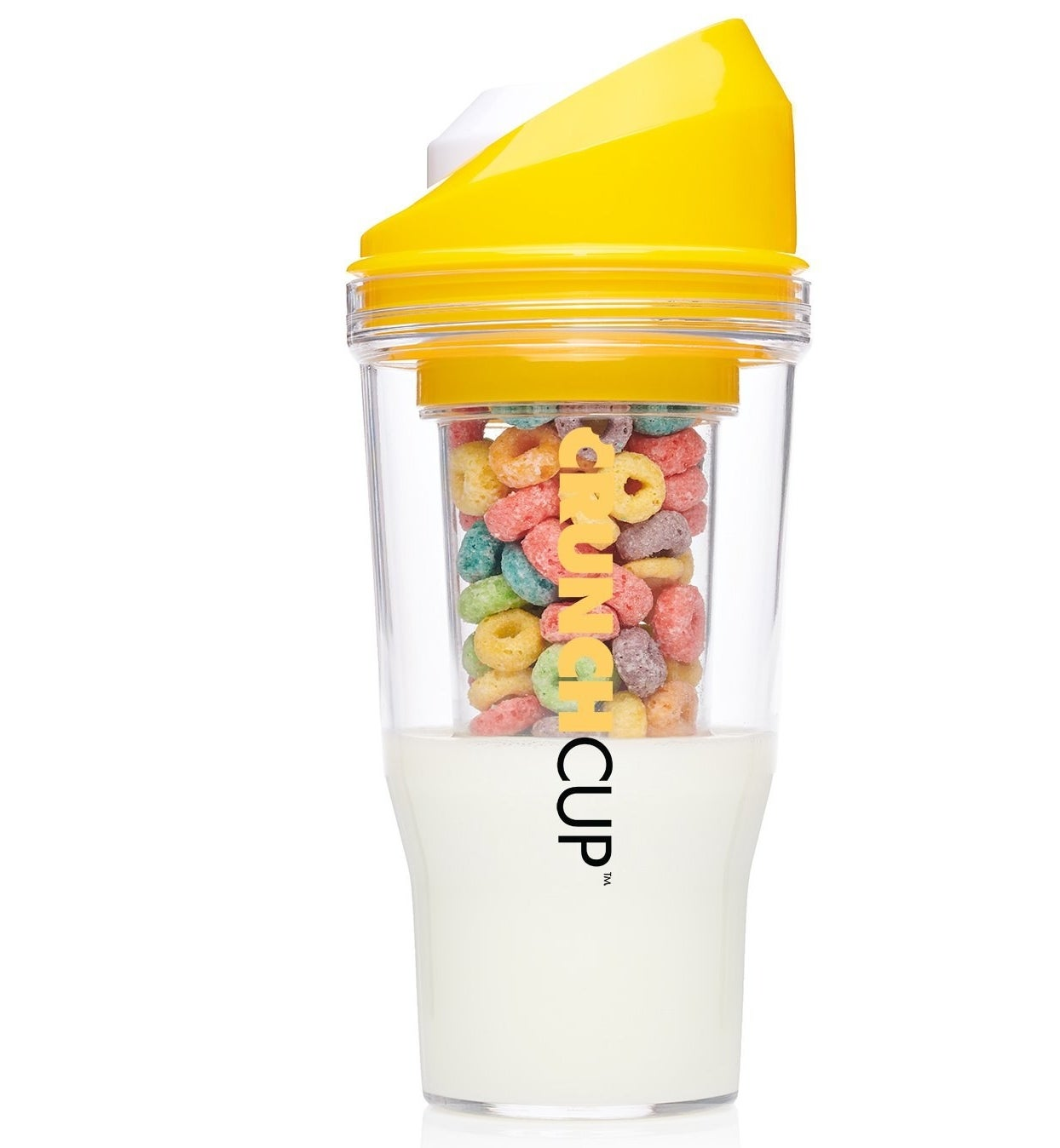 The Crunch Cup in yellow