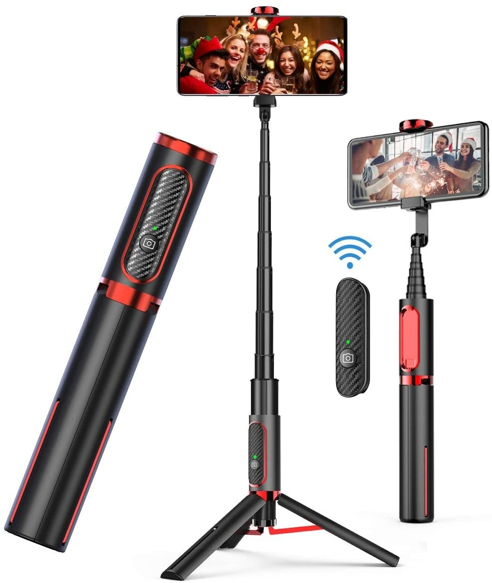 selfie stick as a tripod and with Bluetooth remote