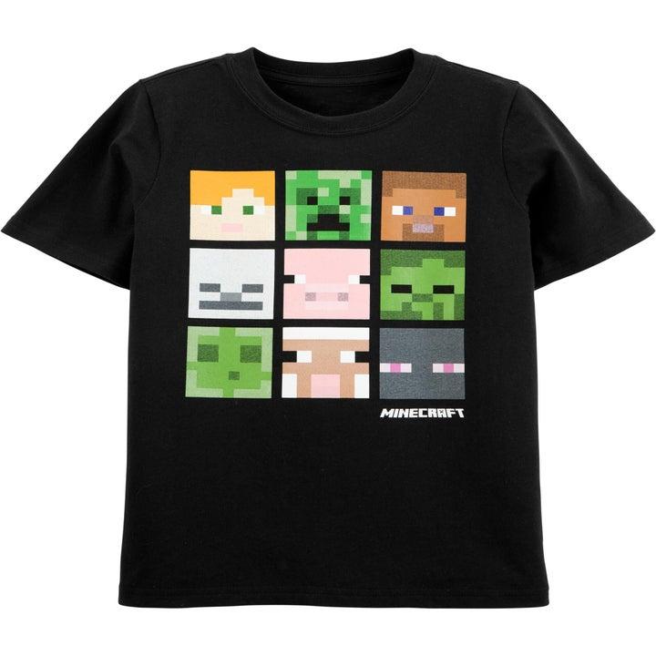 A  Minecraft graphic shirt in black