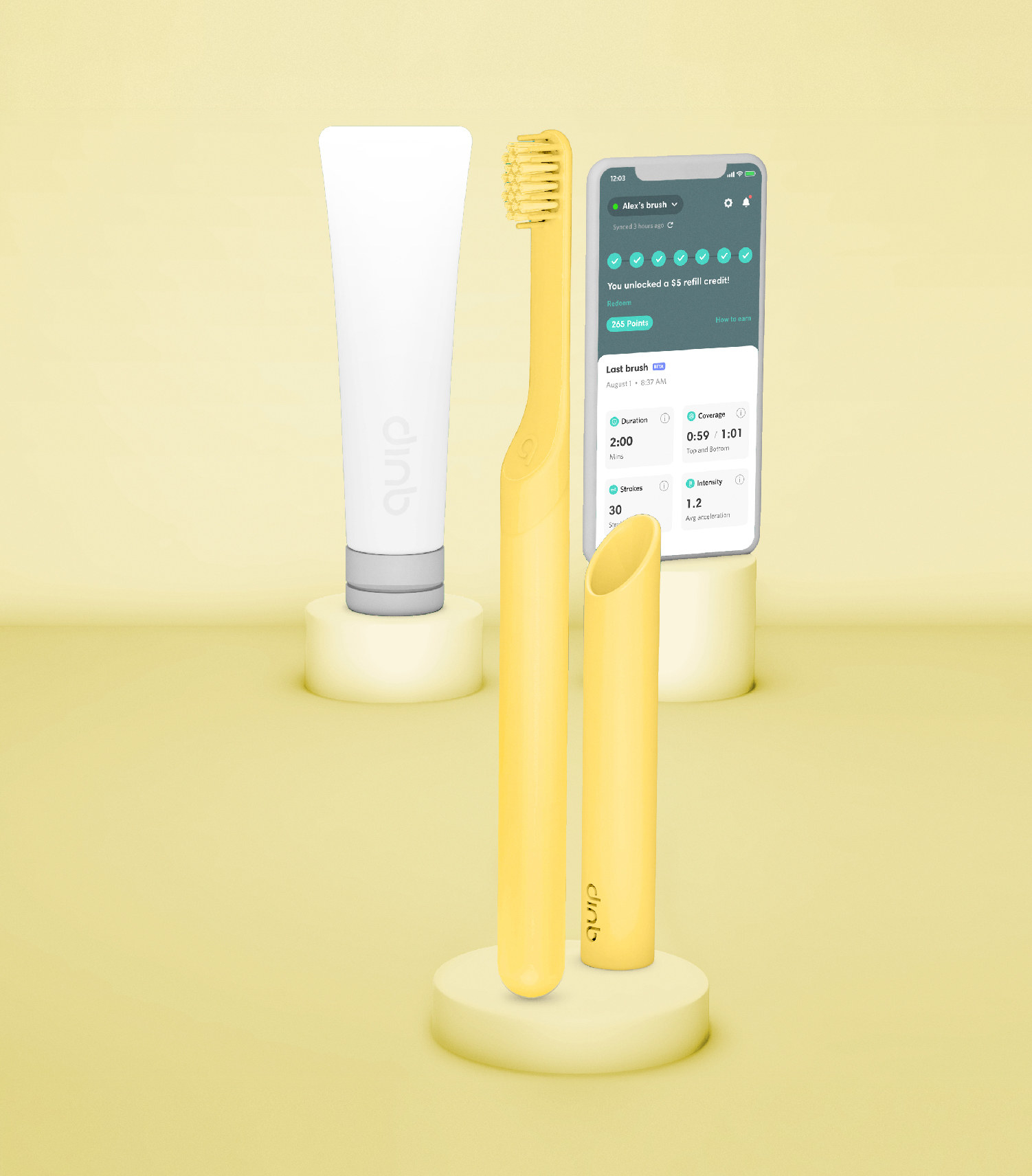 The toothbrush bundle in yellow