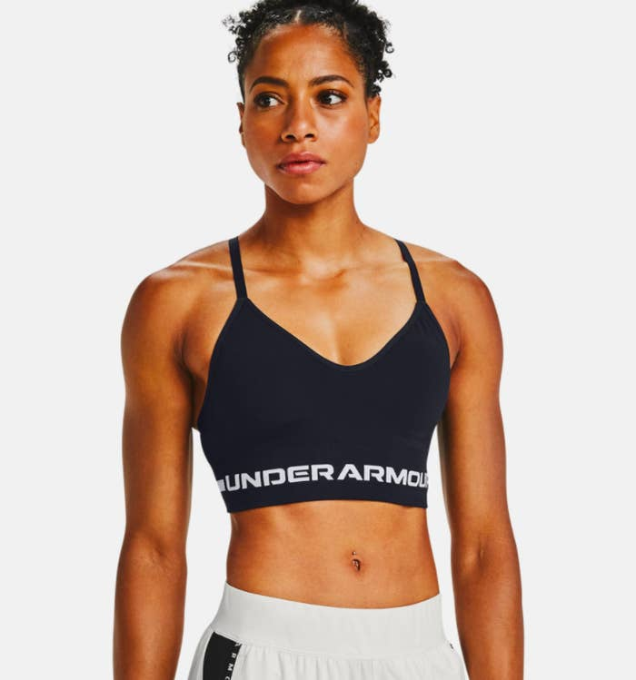 model wearing the low-impact sports bra