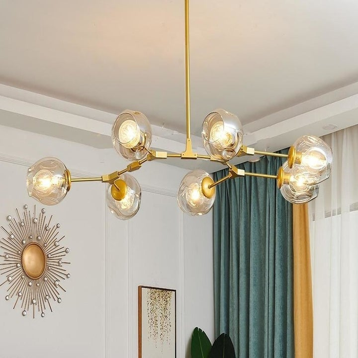 A Glass Bulb Chandelier