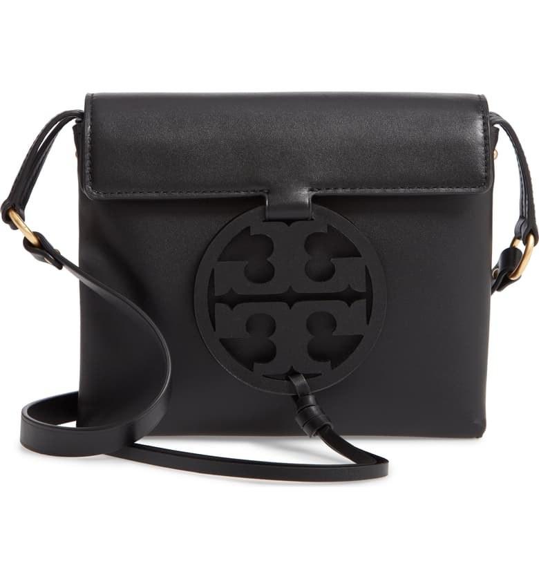 Tory Burch Miller leather crossbody in black