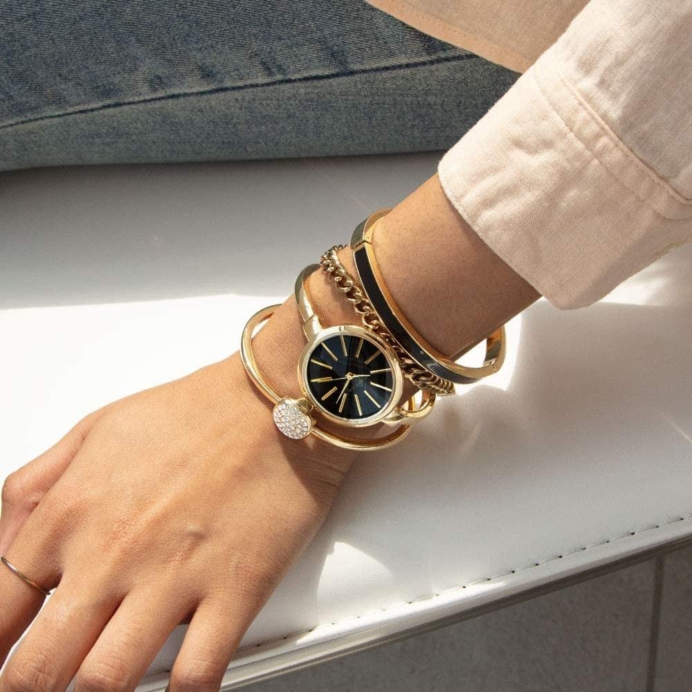 model wearing the bracelets