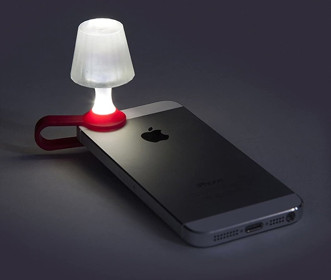 lamp that clamps onto a phone