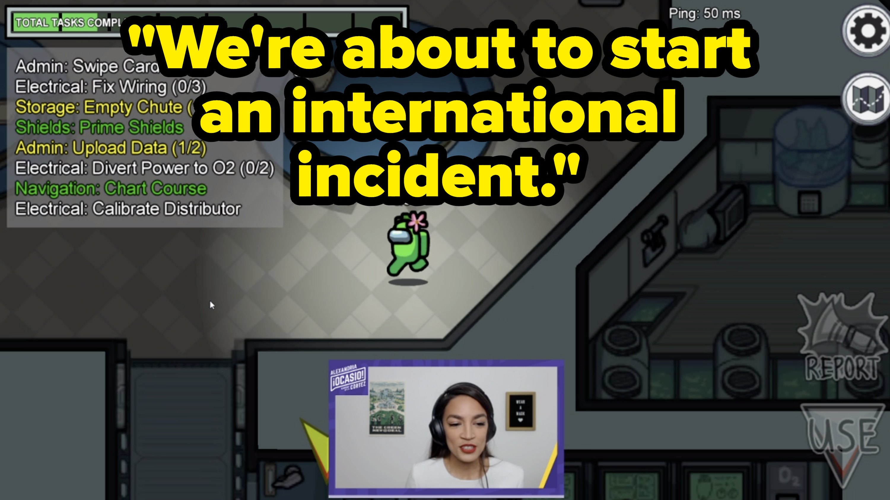 AOC says, We're about to start an international incident