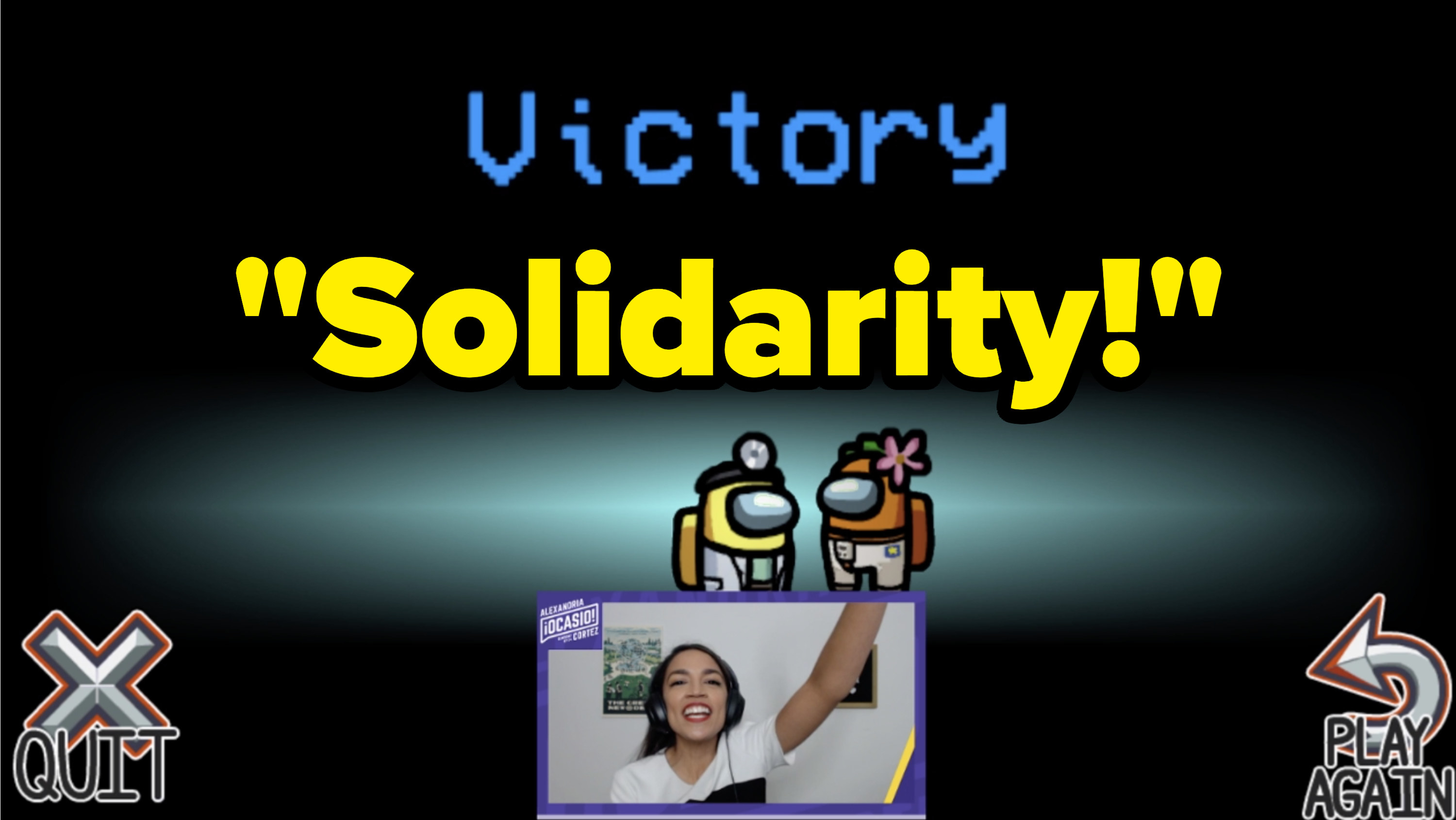 AOC says Solidarity! after winning