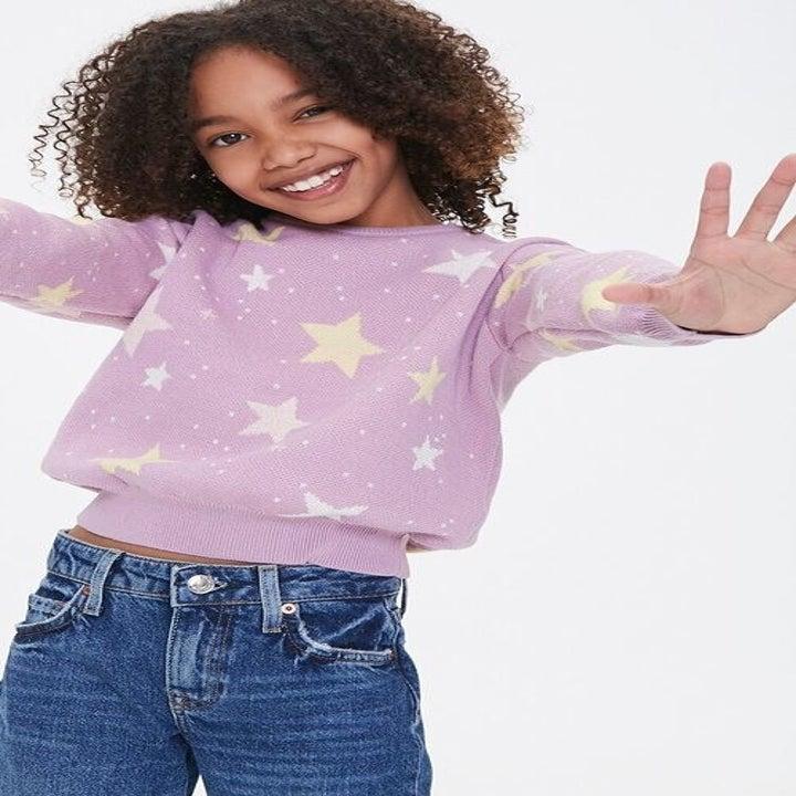 the star print sweater