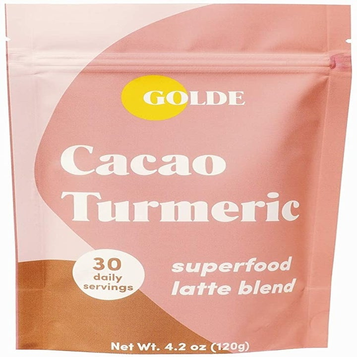 The Golde Cacao Turmeric superfood latte blend packaging