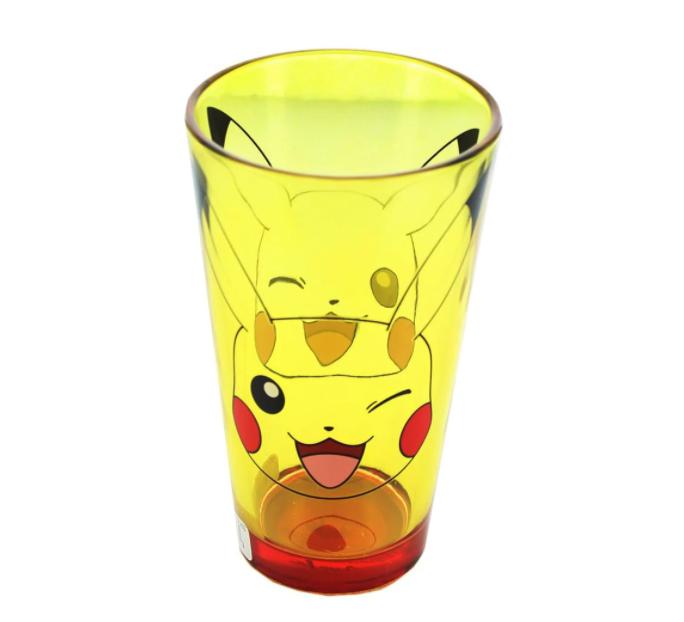 the yellow pikachu glass