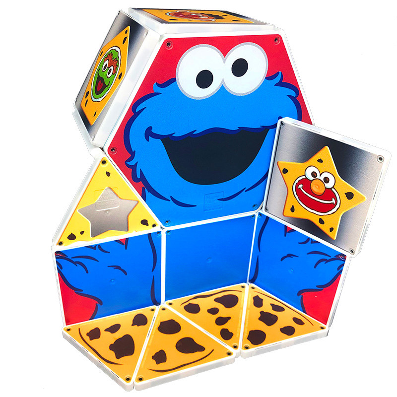 The Sesame Street Cookie Monster shapes