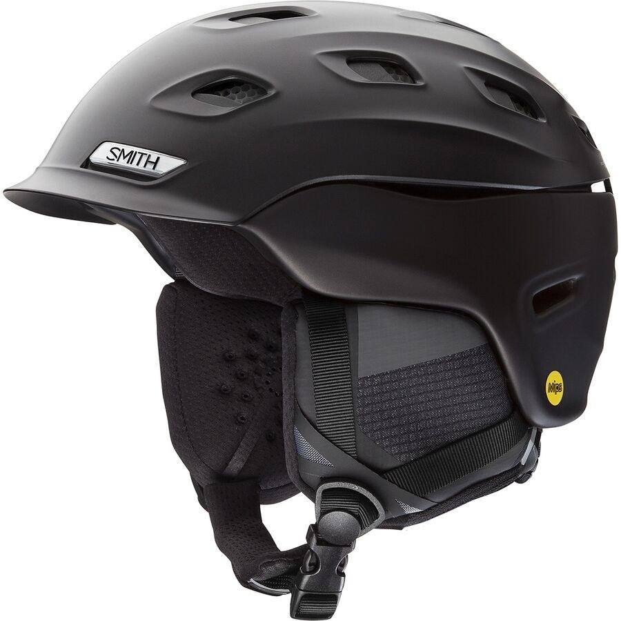 black snowboarding helmet with ear covers