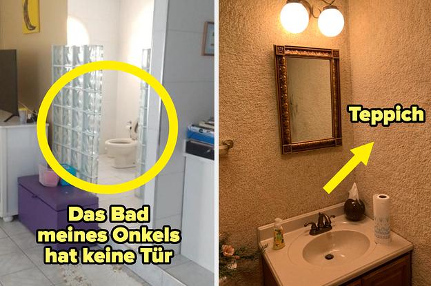 17 Badezimmer, die offenbar mit Chaos im Sinn gestaltet wurden