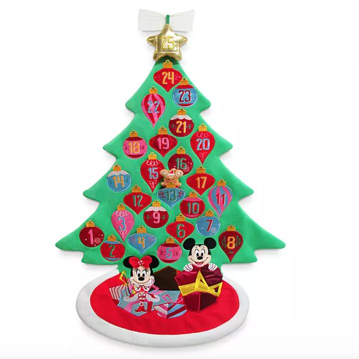 a plush tree-shaped advent calendar