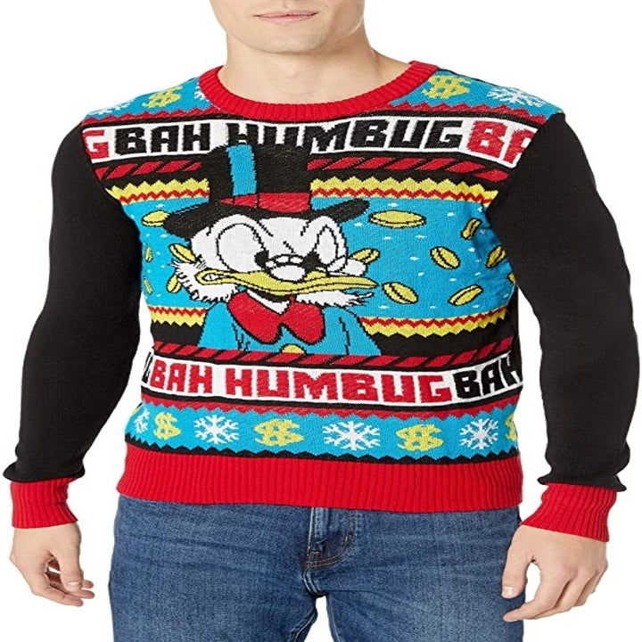 a scrooge mcduck sweater