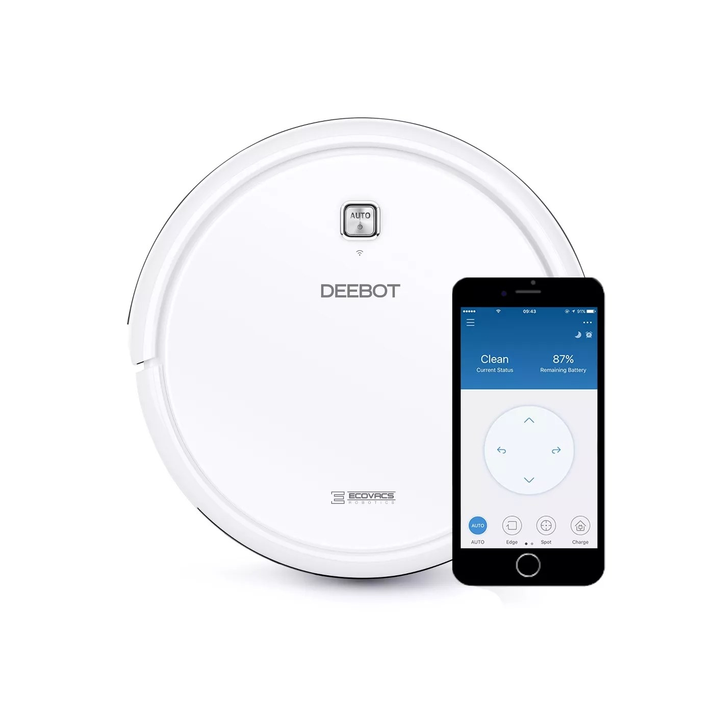 The Ecovacs Deebot robot vacuum and its app