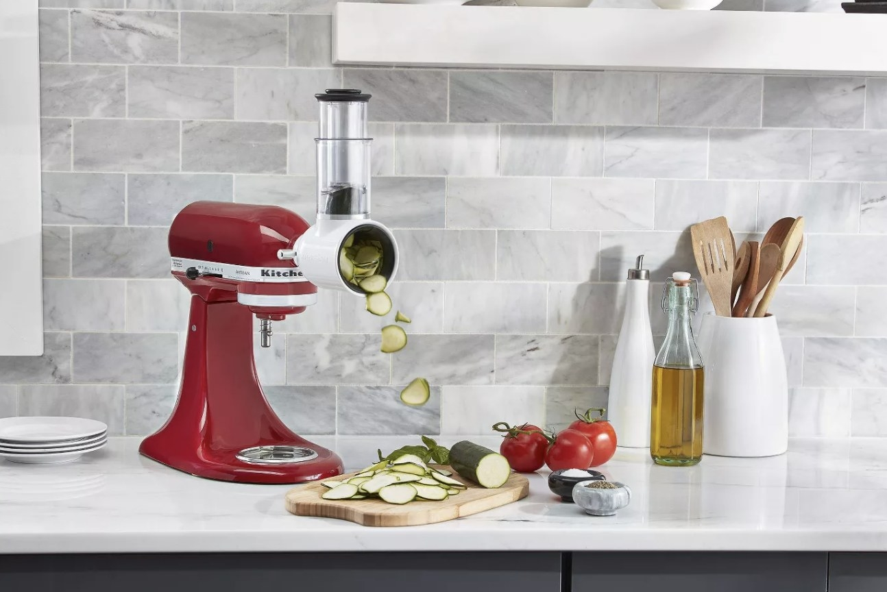 The stand mixer in red