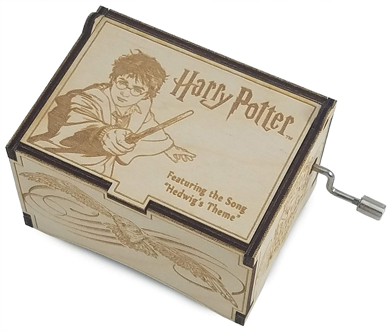 the music box with Harry Potter engraving