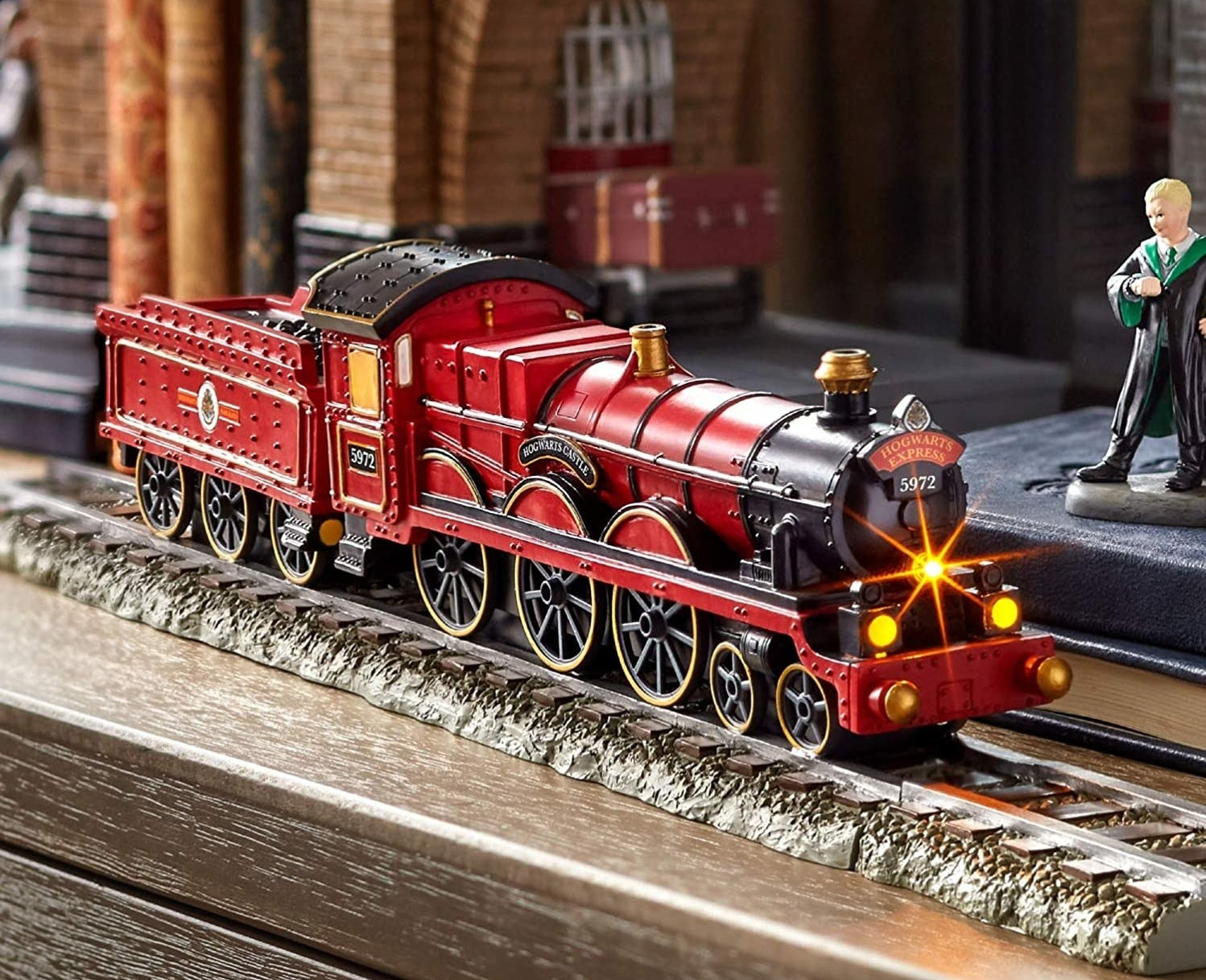 the red Howarts Express train