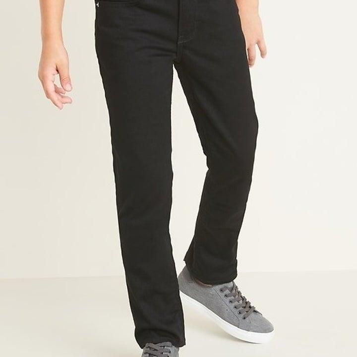 boys pocket pants in black