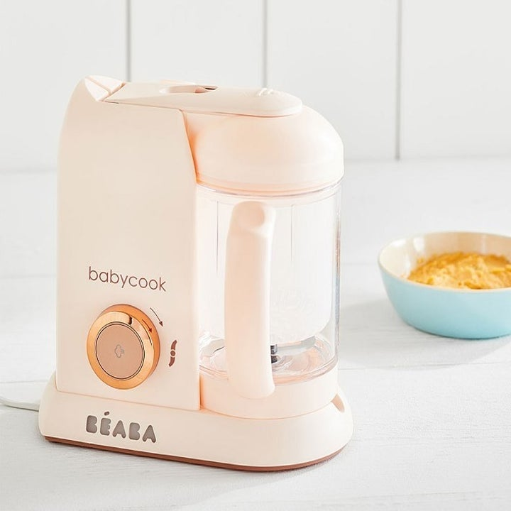 the Beaba Babycook in rose gold
