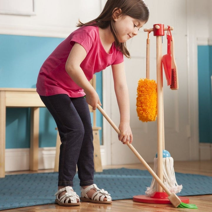 Melissa & Doug lets play house dust, sweep and mop set