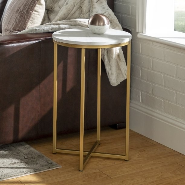 A white and gold table