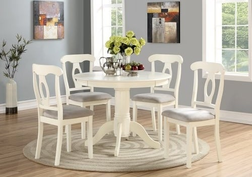 A white dining room set