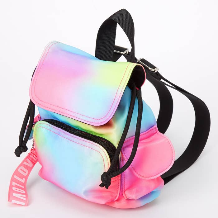 the rainbow tie-dye mini backpack