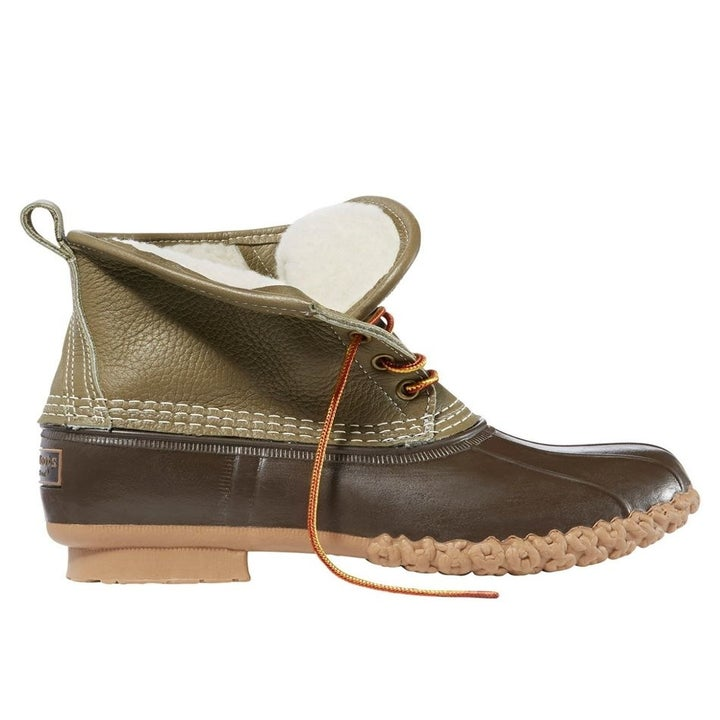 The brown and green boots