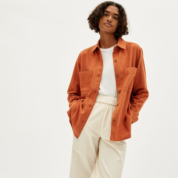 the shirt in persimmon