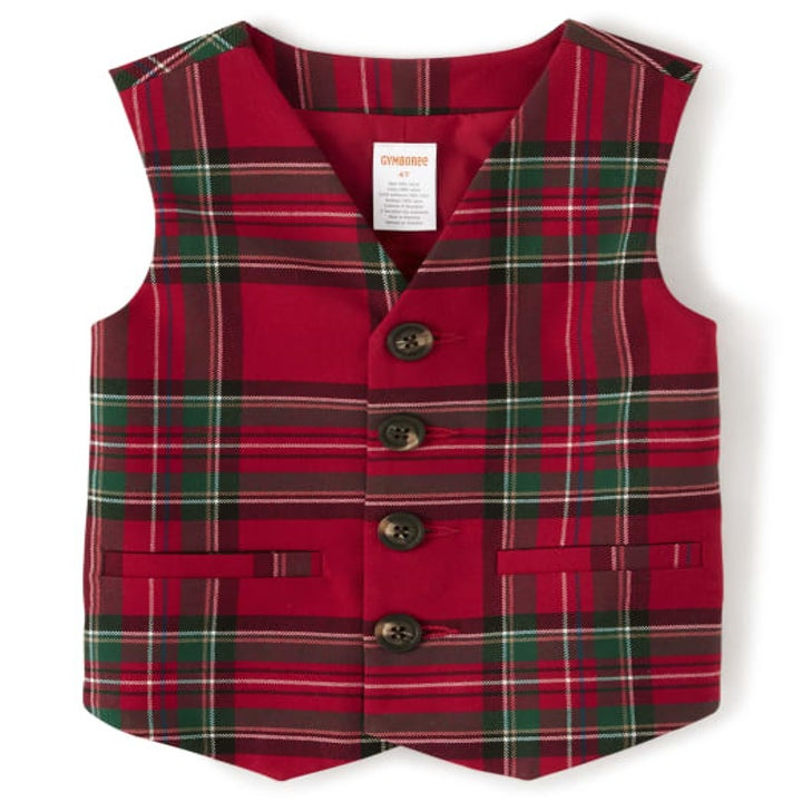 the plaid vest in red