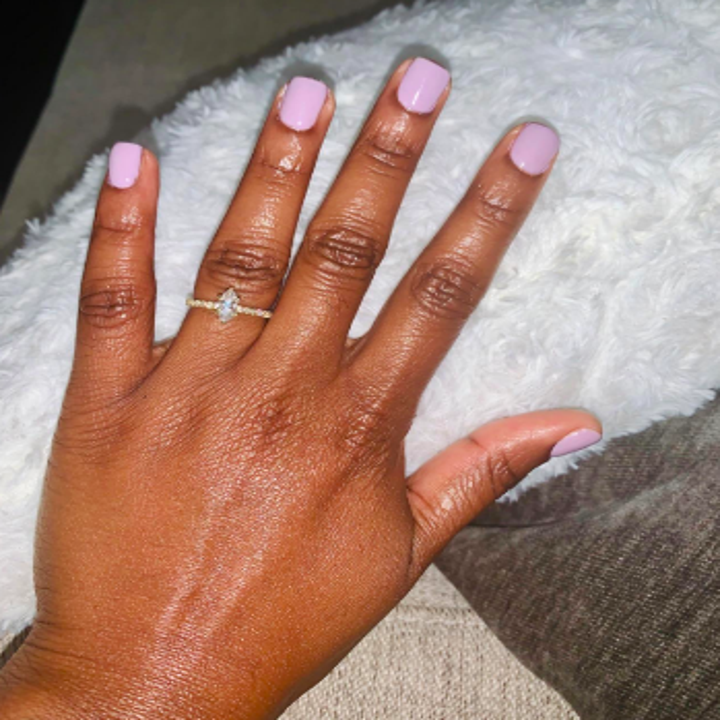 Reviewer's gel manicure after using product