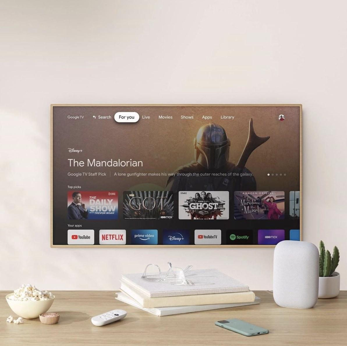 A TV casting with a Google chromecast