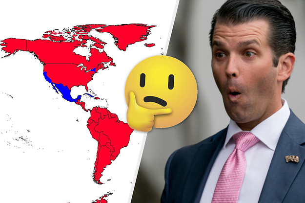 Image of: Donald Trump Jr Tweeted A World Map That Made Completely No Sense Usnews Info
