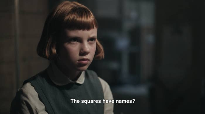 """Beth asking """"The squares have names?"""""""
