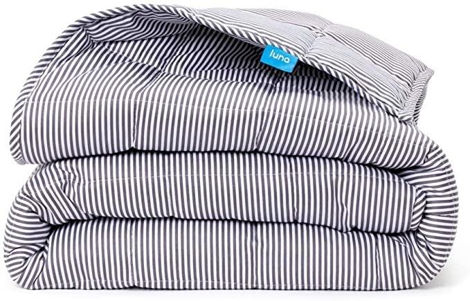 Luna weighted blanket in stripe