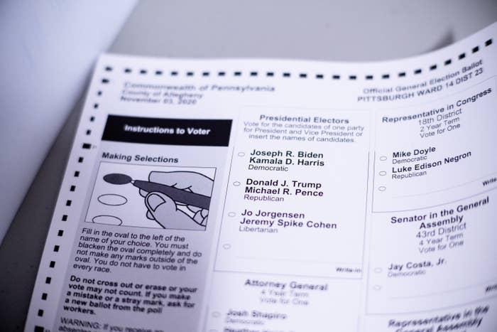 Photo of a ballot