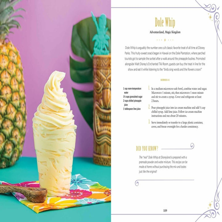 A recipe for Dole Whip ice cream from the cookbook.