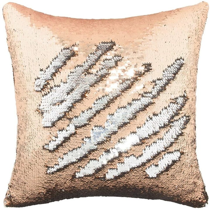 The same sort of pillow, except in silver and gold