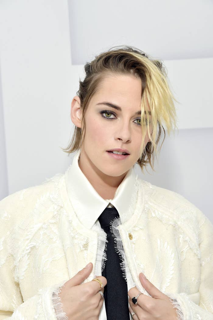 Kristen Stewart virtually attends the Chanel Womenswear Spring Summer 2021 held at the Grand Palais on October 06, 2020 in Paris, France