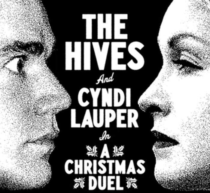 "Cover of the single for ""A Christmas Duel"" by The Hives and Cydni Lauper"