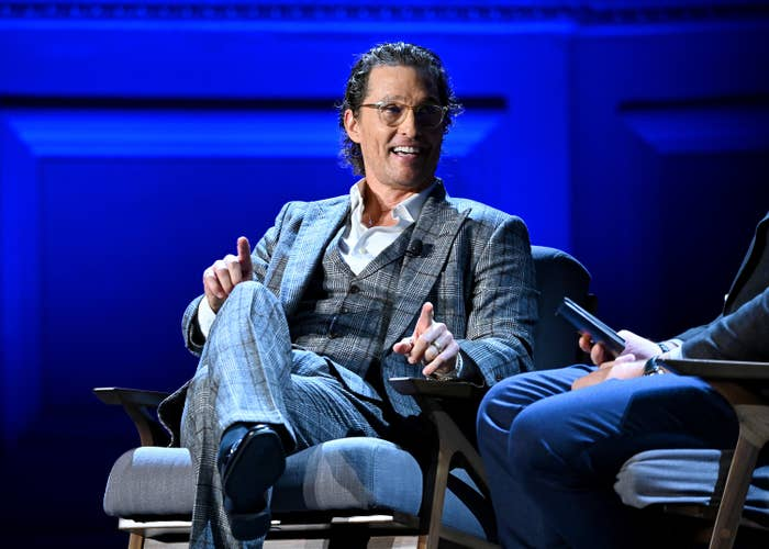 Matthew McConaughey speaks onstage during HISTORYTalks Leadership & Legacy presented by HISTORY at Carnegie Hall on February 29, 2020 in New York City.\